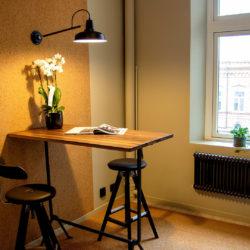 Barbord och stolar hos arkitektfirman Krook & Tjäder