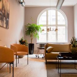 Lounge hos arkitektfirman Krook & Tjäder