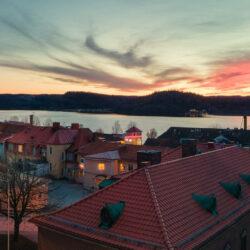 kvällsvy över Åsunden i Ulricehamn